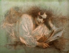 The reading by Lucien Lévy-Dhurmer born September 30, 1865 in Algiers, Algeria died September 24, 1953 (87) in Le Vésinet, France