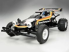 The revolutionary Tamiya Hornet off-road buggy in 1/10th scale is back and more fun than ever before! The Hornet stands as one of Tamiya's most popular R/C cars ever released, helping launch a 2WD R/C buggy boom worldwide. The Tamiya Hornet features an excellent performance rating on both dirt and on-road tracks, this awesome radio control buggy can take on any type of terrain.