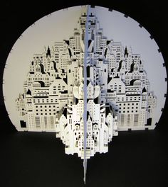 Origami city by the talented origami artist Ingrid Siliakus