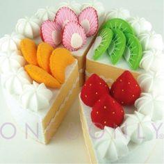 felt fruit cake for the cafe @ etsy