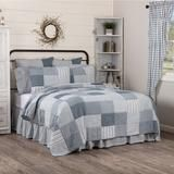 Farmhouse Blocked Quilts Sawyer Mill Blue Patchwork Shams Bed Skirts – Jam - Discount Home Decor Farmhouse Quilts, Farmhouse Style Bedrooms, Farmhouse Fabric, Farmhouse Decor, Vintage Farmhouse, Farmhouse Interior, Country Farmhouse, Modern Farmhouse, Country Bedspreads