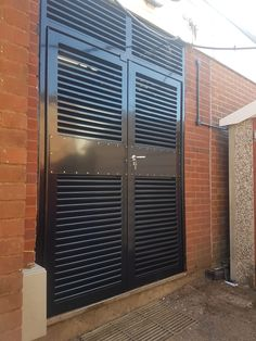 Combining security, ventilation & air flow, our louvre doorsets are manufactured in our UK factory to the highest standard of finish for plant rooms, engine/boiler rooms, bin stores & substations. Louvered Door Ideas, Wood Closet Doors, Louvre Doors, Bin Store, Steel Security Doors, Room With Plants, Iron Doors, Home Room Design, Steel Doors