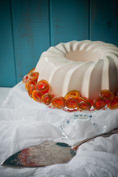 Blancmange (aka panna cotta) with Candied Papaya via Lulu's Sweet Secrets Desserts In A Glass, Sweet Desserts, Just Desserts, Delicious Desserts, Yummy Food, Yummy Yummy, Candy Recipes, Wine Recipes, Dessert Recipes