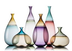 Goccia Vases - Vetro Vero: hand blown glass design