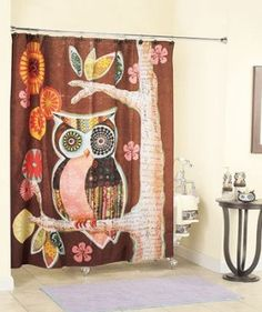 Amazon.com: Owl Friend Shower Curtain: Home & Kitchen