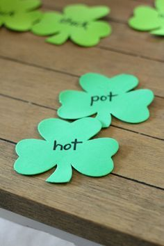 St. Patrick Day Games for Kids | Four Leaf Clover St Patricks Day Cutouts By DIY Ready. http://diyready.com/13-fun-st-patricks-day-games-for-kids/