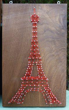 Torre Eiffel cadena arte por DesignWheel en Etsy