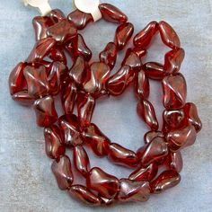Red 15mm Glass Beads 50% off qty 50 by XOSupplies