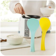 Fashion simple little can be vertical spoon, environmental safety sticky rice shovel creative kitchen cutlery