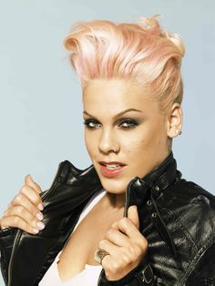 I always loved how P!nk rocked the short hair. She's such a bad??.