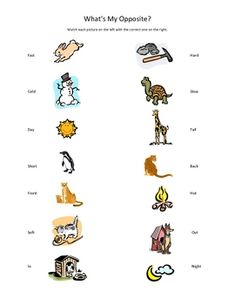 12 printable opposites worksheets -- FREE and easy to download at ...