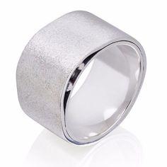 Wide Sterling Silver Oxidised ring – Charlotte Cornelius