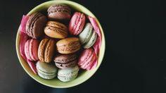 Preview wallpaper macaron, almond cookies, dessert 1366x768