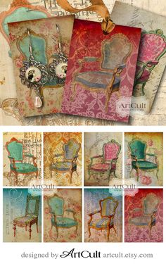 TATTERED BEAUTY ArtCult Printable Images are great for your art and craft projects.  These are self-print digital files. NSTANT DOWNLOAD!