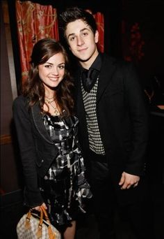 David Henrie and his ex-girlfriend Lucy Hale...