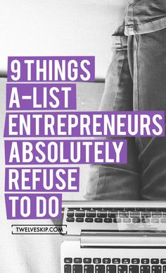 9 Things A-List Entrepreneurs Absolutely Refuse To Do Have a big network of executives and HR managers? Introduce us to them and we will pay for your travel. Email me at carlos@recruitingforgood.com