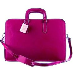 Amazon.com: MEDICHI Italian Made Leather Double Gusset Women's Briefcase - Magenta: Shoes