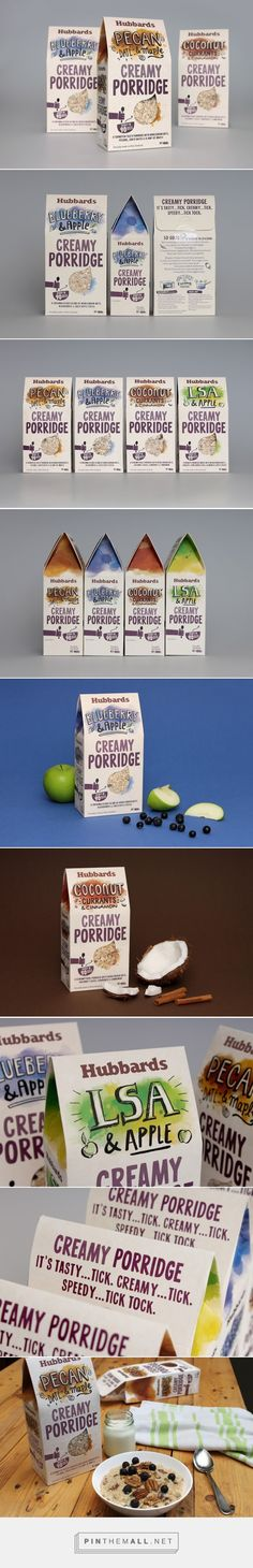 Hubbards Creamy Porridge - Packaging of the World - Creative Package Design Gallery - http://www.packagingoftheworld.com/2016/06/hubbards-creamy-porridge.html