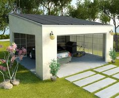 envision solar carport garage.jpg. Cool and power the interior office with the sun.