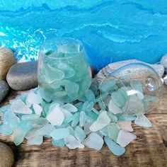 1-4cm Mixed of Sea Glass 500g Forsted Glass /& Beach Glass Crafts DIY