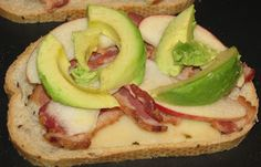 Hot Eats and Cool Reads: Grilled Cheese Sandwich with Bacon, Apple & Avocado Recipe National Grilled Cheese Day, Apple Butter, 30 Minute Meals, Slice Of Bread, Avocado Recipes, Kitchen Recipes, Original Recipe, Yummy Treats, Bacon