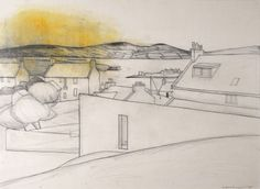 Stromness, Orkney pencil and oil on paperWilhelmina Barns-Graham Patrick Heron, Line Sketch, Ligne Claire, Going On Holiday, St Ives, Community Art, Medium Art, Barns, Art History