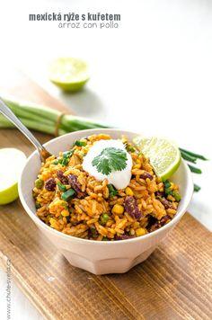 mexická ryza s kurčaťom Mexican Food Recipes, Healthy Recipes, Ethnic Recipes, Healthy Food, Home Food, Kitchen Recipes, Recipe Collection, Chana Masala, Curry