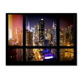 Found it at Wayfair - 'Window View Manhattan Night 2' by Philippe Hugonnard Photographic Print on Wrapped Canvas