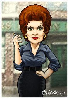 Elsie Tanner, played by legend-in-heels Pat Phoenix. Great artwork ;-)