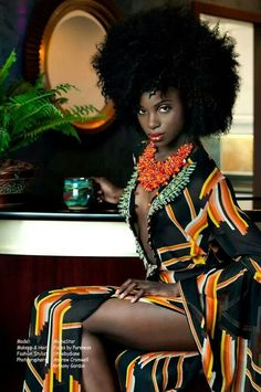 Natural hair and fashion meet beautifully