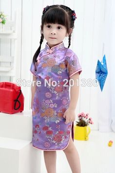 Baby Girl NEW YEAR summer Dresses Kid Chinese Style chi-pao qipao cheongsam gift Clothes