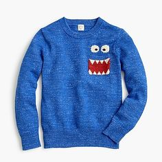 Crew for the Max the Monster™ boys' cotton crewneck sweater. Find the best selection of Boys Shirts & Tops available in-stores and online. Half Zip Sweaters, Boys Sweaters, Cardigans, Paws T Shirt, Hooded Flannel, Sweater Layering, Crew Clothing, Sweater Making, Dope Outfits