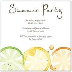 citrus party invites