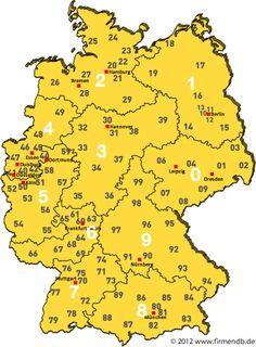 Postleitzahlenkarte von Deutschland