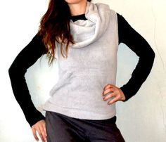 10 MINUTES HOODED VEST - tutorial by marcellahella - easy 10 minuet hooded vest