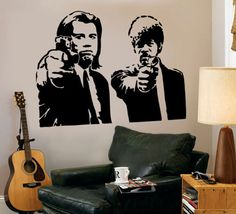 Other than my need to stencil and hang a mobile over everything, there's always wall decals that I want to put everywhere.