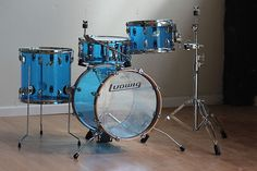 Ludwig Vistalite Acrylic Limited Edition Jazz Drum Set Blue One of 3 Made | eBay
