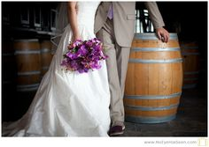 Purple bridal bouquet - Chamard Vineyard, (photo by no eye has seen photography)