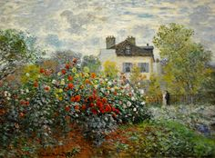 """""""The Artist's Garden in Argenteuil (A Corner of the Garden with Dahlias)""""  --  1873  Claude Monet  --  French  --  Oil on cancas  --  National Gallery of Art  --  Washington, DC"""