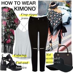 How to Wear: Kimono by asya-1 on Polyvore featuring polyvore fashion style Athleta Oasis Refresh Victoria Beckham