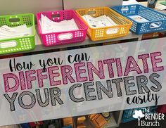 "Differentiating centers helps students have access to multiple ""paths"" to the same objective. This pin helps me with ideas on how to differentiate the centers in my classroom. Education Center, Elementary Education, Special Education, Elementary Teacher, Health Education, Physical Education, Teaching Strategies, Teaching Tips, Learning Centers"