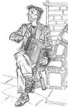 Irish Accordion player in a Doolin Pub.