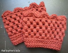 Crochet boot cuffs ~ free pattern