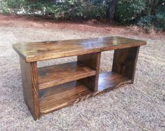 Items similar to Wood Storage Bench - Rustic Boot Bench - Shoe Cubby Bench on Etsy Shoe Rack With Shelf, Diy Shoe Rack, Rack Shelf, Rustic Entryway, Rustic Bench, Rustic Decor, Entryway Bench, Rustic Wood, Shoe Cubby Bench
