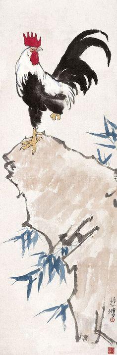 Coqs de Xu Beihong | Peinture Chinoise | China Museum ligne