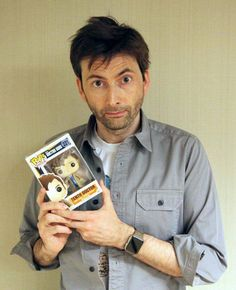 David Tennant... look at his little pop collection doll :)
