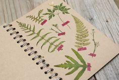 Cuaderno de recuerdos de hojas...