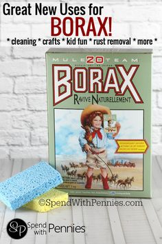 Great New Uses for Borax!  Use it for cleaning, crafts and more!  (And to make homemade bouncy balls!!)
