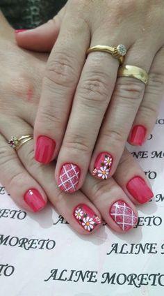 Uñas rojas Cute Nail Art, Cute Nails, Pretty Nails, Christmas Nail Designs, Christmas Nail Art, Nail Polish Designs, Nail Art Designs, Spring Nails, Summer Nails