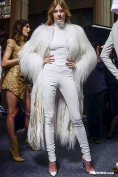 Constance Jablonski at Alexandre Vauthier Haute Couture FW/2012 Backstage.